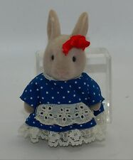 Vintage Sylvanian Families Fakie Forest Critters Grey Rabbit Sister Girl Bunny
