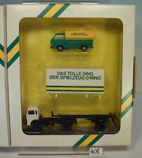 Roco 1/87 Magirus Containerzug & VW Transporter Spielzeugring OVP #408