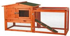 Large Coop Hutch Chicken Rabbit House Roost Nest Box Ramp Fence Enclosure Area
