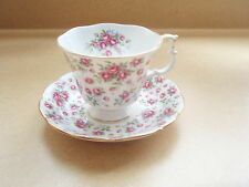 ROYAL ALBERT CHINTZ CUP AND SAUCER ENGLAND NELL GWYNNE SERIES CHELSEA