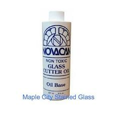 Stained Glass Supplies NOVACAN NON-TOXIC STAINED GLASS CUTTING OIL 8 oz BOTTLE