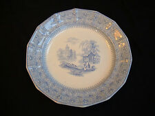 Staffordshire China Waverley Blue Transferware Plate ~ Thomas Edwards c.1841