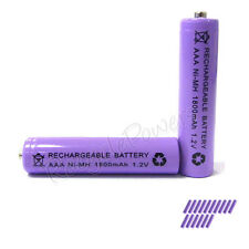 16 pcs AAA 3A 1800mAh Ni-MH Rechargeable Battery Purple