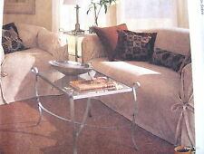 Slipcover sewing pattern club chair sofa pillows slip cover