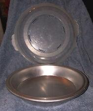 """Nordic Ware PIE PAN w/ Domed Lid 10"""" diam Made in USA Aluminum Cream Meringue"""