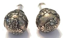 TIFFANY & CO Makers Antique Sterling Silver Bottle Stoppers CLOVER