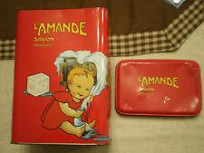 Rara scatola in latta L' Amande Savon de Marseille sapone di Marsiglia