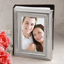 Matte Silver Metal Photo Album Frame - Wedding favour and gift - NEW