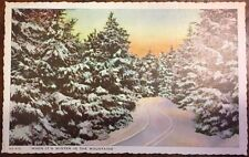 """Winter in the Mountains  """"in the land of the sky"""" near  Asheville NC postcard"""