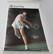 Billie Jean King 1978 Sports Illustrated Poster Women's Tennis WTA