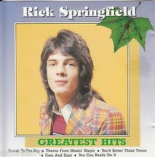 RICK SPRINGFIELD Greatest Hits CD - Rare West German Issue - Early Tracks