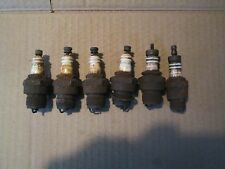 6-VINTAGE CHAMPION SPARK PLUGS C-4 PARTS OR RESTORE