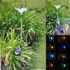 Solar Powered Butterfly Garden Yard Stake Color Changing LED Light