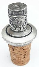 Whisky Cask / Barrel Handcrafted From English Pewter Bottle Stopper + GiftBag