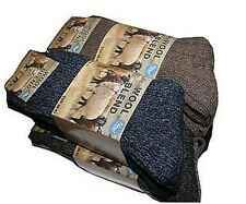6 pairs mens Chunky wool blend mix content boot socks hiking THERMAL WARMTH wint