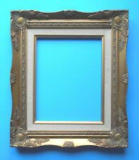 VTG 8 x 10 pic area~ Ornate Deep Gold Gilt WOOD ~wall Art~Photo~Picture Frame