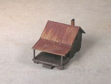N Scale Wilderness Weathered Fish'n Cabin
