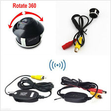 CCD Rotatable Car Reverse Backup Camera Kit + New Wireless Transmitter/Receiver