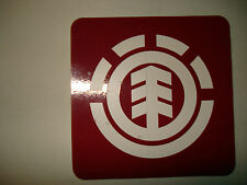 ELEMENT RED BOXED OG ICON LOGO SQUARE SKATEBOARD STICKER