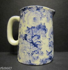 Heron Cross Pottery LAURA (BLUE) Chintz English 1/4 Pint Cream Jug