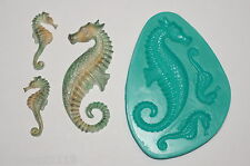 Cake Toppers Sugarcraft Cake Decoration PMC Art Moulds Crafts Sea Horse (7001)