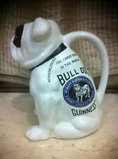 1900s GUINNESS BULLDOG BEER BRITISH BULLY DOG SHAPE TOBY CROCK PUB JUG PITCHER