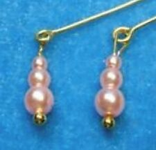 Dreamz PINK Graduated Pearl EARRINGS Barbie Silkstone OOAK Doll Jewelry