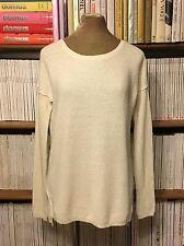 VINCE white pullover relaxed fit jumper sweater S UK 8-10-12 US 4-6-8 cotton