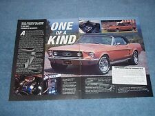 """1967 Mustang GT Convertible Article """"One fo a Kind"""""""
