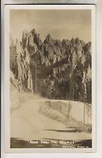 VINTAGE RPPC - ROAD THRU THE NEEDLES - SOUTH DAKOTA - O'NEILL PHOTO CO.