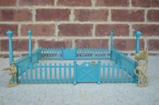 Marx Picket Fence with Gates Lamposts 1/32 1/24 Toy Soldier Diorama Dollhouse