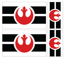4 X REBEL ALLIANCE REBELLION FLAG VINYL CAR VAN IPAD LAPTOP STICKER