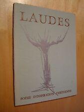 Laudes 51 anthologie Ville des hommes Bancal Holden...