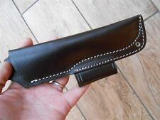 Leather Bushcraft style sheath for 'woodlore' style knives - with firesteel slot