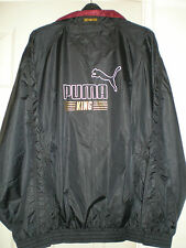 new puma king shell jacket black with red lining XL elasticated waist & sleeve