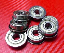 "10pcs FR3zz (3/16"" x 1/2"" x 0.1960"") Metric Metal FLANGE Ball Bearing FR3z"