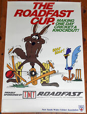 VINTAGE 1980'S ROADFAST CUP NSW CRICKET POSTER