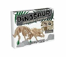Triceratops: Professor Puzzle Dinosaur Construction Wood 3D Kit + Activity Book