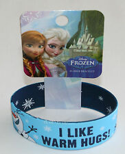 Disney FROZEN OLAF I LIKE WARM HUGS SNOWMAN REVERSIBLE Rubber Bracelet Wristband