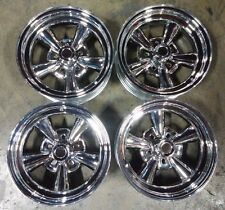 "15"" Astro Supreme Chrome Wheels Rims 5x120.7 5x4.75 Chevy El Camino GM Dodge"