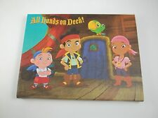 """Canvas Wall Art Picture Sign 8.5""""w All Hands on Deck Jake Never Land Pirates"""