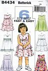 Butterick Fast Easy Sewing pattern Toddlers'/Children's Dress Size 1- 6 B4434