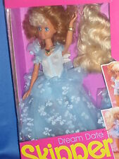 ♥ NRFB VINTAGE TOP RAR MATTEL 1990 DREAM DATE SKIPPER BARBIE Sogno in blu chiaro