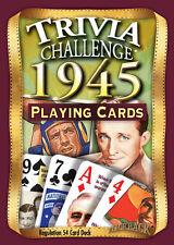 Flickback 1945 Trivia Playing Cards 71st Birthday or 71st Anniversary Gift