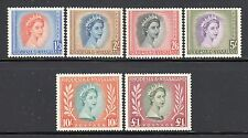 Rhodesia & Nyasaland SC# 150-5(SG#10-15) MH(6) High Value QE II Set Issued 1954/