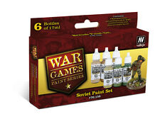 VALLEJO PAINT SET VAL70159  Model Color Set - WWII Wargames - Soviet Paint set