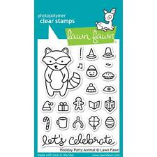 Lawn Fawn Holiday Party Animal Clear Stamps LF934