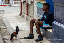 "Neil Reichline Photo, ""Chicken on a Leash"" Havana Central, Cuba"