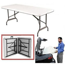 6ft FOLDING BANQUETING CAMPING BBQ PICNIC CATERING MARKET PARTY IN&OUTDOOR TABLE
