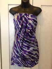 LISA HO purple mini strapless draped dress 8 new party cocktail NWT RP $618